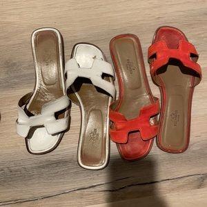Used HERMES Oran sandals